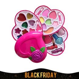 Wholesale Dress Up Set Kids - Wholesale- Girl's Cosmetics sets Make Up Heart Shape Set Toys Kids make up Cosmetics Party Performances Dressing MakeupBox free shipping
