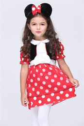 Wholesale Micky Mouse Clothes - 2015 Halloween Kid's Clothing Girls Dress The Game Clothing Costume Party Cosplay Performance New Clothing Micky Mouse Suits
