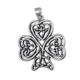 Wholesale Chinese Wholesale Silver Jewelry - religious pendant clover shape tree chinese Knot floating charms fitness sport charms for diy jewelry making 50pcs a lot antique silver