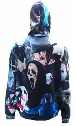 Trajes de deus on-line-2016 3D Horror careta Dead God Owl esquadrão Suicida hoodie moda dos homens Gráfico Super mario animal Halloween Costumes camisola Com Capuz