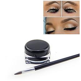 Wholesale Eyeliner Gel Pro - 2015 New Pro Makeup Waterproof Black Natural EyeLiner Gel with Brush Set High Quality Cosmetics 5g