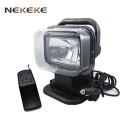 Wholesale Auto 4wd - 2017 hot selling high quality Boat spotlight 100W HID xenon rotating remote control searchlight auto 4WD