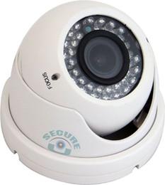 Wholesale Dome Outdoor Security System - Black White Vari focal Zoom Mega-pixel Lens Vandalproof Weatherproof Dome Camera 1200TVL HD Color CCD IR CUT Security Surveillance System