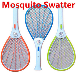 Wholesale Electric Racket - Mosquito Nets Swatter Bug Insect Electric Fly Zapper Killer Racket Rechargeable With LED Flashlight Household Sundries Pest Control