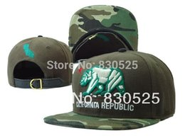 Wholesale Cap Republic - Wholesale-Free Shipping New Arrival California Republic Camo Snapback hat Strapback hat Snap backs baseball cap basketball hat hiphop men
