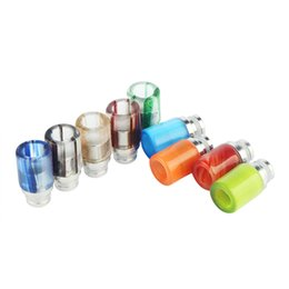 Wholesale Mini Protank Pyrex Glass - Very Beautiful Pyrex Glass Drip Tips stainless steel Wide Bore Drip Tip for 510 EGO Atomizer Mouthpiece RDA Mini Protank SubTank Vaporizer