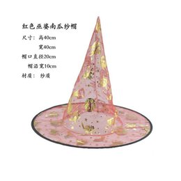 Wholesale witches wizard hats - 2016 new Halloween witch hats Easter hat Halloween Party Propsl Costumes decoration Wizard Party Hats For Children Adult