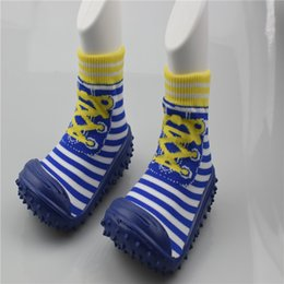 Wholesale Old Socks - 0-2 years old First Walker Anti-slip Infant Toddler Shoes Soft Bottom Toddler Socks With Rubber Soles Baby Floor Socks