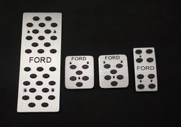 Wholesale Ford Focus Gas - Aluminum Car Pedals MT Foot Rest, Clutch, Brake,Gas Pedal Auto parts Car Styling For Ford Focus Mondeo Ford Edge
