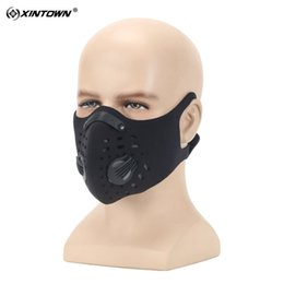 Wholesale Hanging Mask - Wholesale- XINTOWN Cycling Face Mask with Carbon Filter Dustproof and Antipollution Masks, Upgraded Version Hanging Ear Avoid Falling