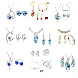 Wholesale Rhinestone Products - Free shipping a series of 17 kinds of product mix necklace suit navel buckle bracelet packaging sales