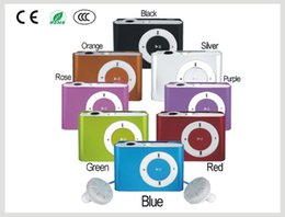 Wholesale Charm Radio - Waterproof Mini MP3 Player Support FM Radio With SD TF Card Slot Cheap Charm Sport Dazzle Color Stylish MP3