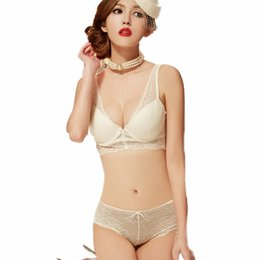 Wholesale Lingerie Hot Panty Bra - Wholesale-Hot 2015 vs Chinese simple lace cotton push up bra and panty lingerie set sexy cute bras set of underwear free shipping