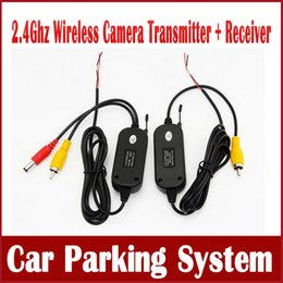 Wholesale Gps Receiver For Dvd - 2.4 Ghz Wireless Video Transmitter Receiver Kit for Car Rear View Camera Reverse Camera Car DVD Player GPS with RCA Ports