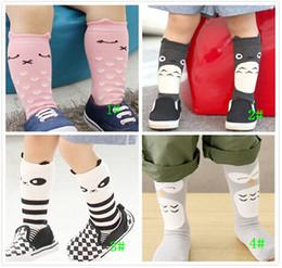 Wholesale panda socks - HOT Kids Lovely socks kids cartoon socks baby knee high socks cartoon panda socks kids owl socks knee high cat socks in stock