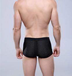Wholesale Men Underwear Boxer Silk - Breathable Mesh Silk Men's Boxer Four Corner Underwear Wholesale New 2016 Underwear Men Mens Bodysuit Underwear