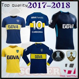 Wholesale P Red - 2017 2018 Boca Juniors Soccer Jersey Home Away Third Argentina Club 17 18 Boca Juniors GAGO OSVALDO CARLITOS PEREZ P Long sleeve shirt