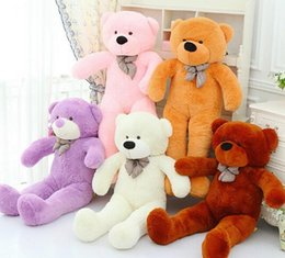Wholesale Giant Girls - 120cm 1.2 big giant teddy bear cute plush stuffed toy animals soft plush toy girl birthday gift toys baby doll
