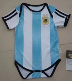 Wholesale Football Babies - 2017 Argentina kids World Cup baby 6-18 month soccer Jersey 17 18 MESSI home DI MARIA AGUERO HIGUAIN ICBADI DYBALA football shirts MARADONA