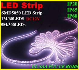 Wholesale Cooler 12v Best Price - 2015 X20 best price LED Strip Light 5050 SMD RGB White Warm Green Red Waterproof nonWaterproof 300LEDs 3000 LM Flexible Single Color