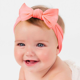 Wholesale Bow Wool Headband - Autumn and winter new season baby hair ornaments new sweet children knot knot with baby cotton bow headband