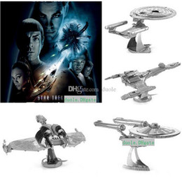 Wholesale Built Star Trek Models - HOT Star Trek DIY 3D Models 4 Styles Metallic Nano Puzzle no glue required For adult Chirstmas gift