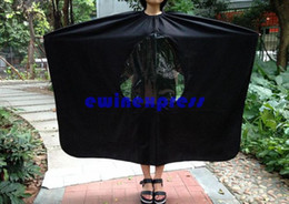 Wholesale Wholesale Hair Styling Capes - Hair Care & Styling Tools Visible Hair Cutting Cape Hairdresser Barber Gown Stylist Viewing Window Hair Cut