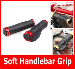 Wholesale Carbon Cycling Handlebars - wholesale Skid-proof Soft Handlebar Grip Cover For Mountain Cycling Bike road Bicycle handle 5Colors 2PCS Pair High Quality.