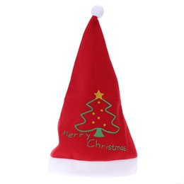 Wholesale Costume Pattern Adult - Cute Party Christmas Costume Super Lovely Red Christmas Hat Lovely Christmas Decoration with Green Tree Pattern for Adults
