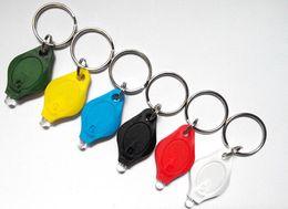 Wholesale Wholesale Keychains Cheap - Colorful Cheap UV Money Detector LED Keychain Light UV flashlight UV Money Detector -800pcs lot