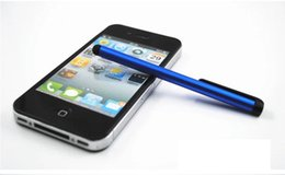Wholesale Ipad Stylus Clip - Capacitive screen stylus touch pen with clip for iphone 4 iphone 5  iPad mini iPad i touch