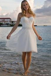 2019 платье длиной до колена Дешевые милая короткие пляж свадебные платья линия Богемия тюль длиной до колен свадебное платье vestido де novia нестандартного размера свадебные Gwns скидка платье длиной до колена