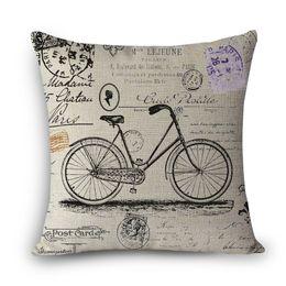 Wholesale Print Design Throw Pillows - Wholesale- MYJ-A1 throw pillow without inner design print bicycle decorative throw pillows dandelion colorful printed home decor