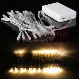 Wholesale Cheap Battery Fairy Lights - Warm White 40 LED Battery String Light Lamp Fairy Christmas Wedding Party LED String Cheap LED String