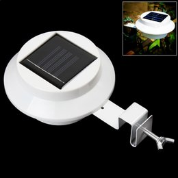 jardines diseños Rebajas Super Bright Yard lámpara solar Panel Fence Light 3 luces LED al aire libre Home Decor Deft Design Jardín Solar Light LEG_203