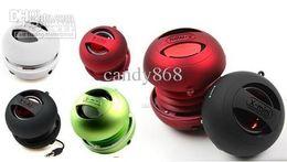 Wholesale Mini Xmi Speakers - new Cylinder Box XMI X MINI XMINI 2 Portable Hamburger Capsule Mini Speaker II FOR Tablet