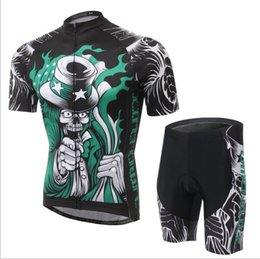 Wholesale Ghost Cycling Jersey - Wholesale-2015 men summer skull ghost team special short sleeve cycling jersey set road bike clothing bicycle ciclismo bicicleta jerseys