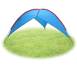 Wholesale Big Tents Camping - Wholesale- FLYTOP big outdoor awning Sun Shelter camping shade canopy gazebo Camouflage tent Fishing Hiking iron Sunshade