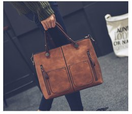 Wholesale Pair Phone - Hot sell female bag of 2017 autumn and winter new pair of double - pocket shoulder - shoulder bag of vintage PU oil leather