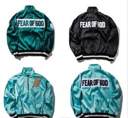 Wholesale V Neck Windbreaker - Fear Of God Jacket Men Women High Quality FOG MA1 Bomber Windbreaker 1987 Collection Fashion Casual Fear Of God Jacket