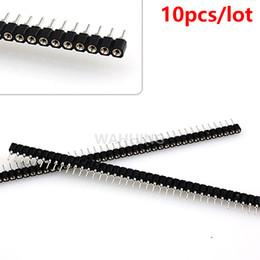 Großhandels-10pcs 40Pin einzelne Reihen-rundes Loch-gerader weiblicher Verbindungsstück 1 * 40 Pin 2.54mm Neigungs-Titel-Einfaßungs-Streifen für Brot-Brett HY1233 * 10 von Fabrikanten