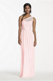 Wholesale Mesh Ruffle Skirt - Custum Made 2016 NEW! Long One Shoulder Corded Lace and Mesh Evening Dress Skirt Style F17063 Bridesmaid Dress