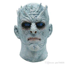 Wholesale Zombies Props - Adult Scary Latex The Game of Thrones Night King Masks Halloween Cosplay Party Costume Mask Walker Face Zombie Movie Mask Props