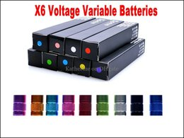 Wholesale x6 electronic cigarette kit - E Cigarette X6 Battery 1300mah Voltage Variable Colorful Battery 3.6V 3.8V 4.2V for Electronic Cigarette Kits Fit all eGo 510 Thread Battery