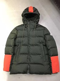 Tecido de neve on-line-2017 Novo Inverno Hi-tech SKI Homens Jaqueta Morna Para Baixo Tecido de Penas À Prova D Água para esportes de inverno de Alta-desempenho Homens Casaco de neve Outerwear