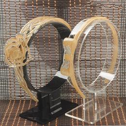 Wholesale Wholesale Hair Jewlery - Wholesale-lot of 2 Acrylic hairband headband display holder hairpin display stand hair jewlery display holder headband Showcase