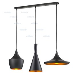 Wholesale Tom Dixon Beat Lamp White - tom dixon Beat Light set - Tall, Fat, Wide, (3 lamps) Pendant Lamp Ceiling Light suspension lighting Chandelier living room dinning room