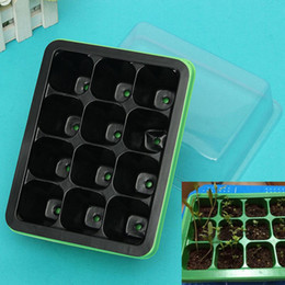 Wholesale Modern Plant Pots - Durable 12 Cells Hole Nursery Pots Plant Seeds Grow Box Tray Insert Propagation Seeding Case Flower pot TY1484