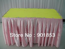 Wholesale Table Skirt Clips Wholesale - Wholesale-satin table skirting add clips