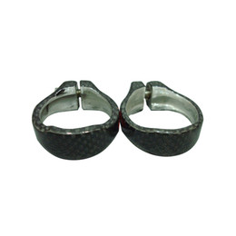 Wholesale Seat Clamps - 31.8mm carbon alloy bike seat post clamp for 27.2mm seat post 3K weave carbon alloy clamp